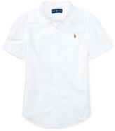 Ralph Lauren White Classic Oxford Button-Up - Toddler & Girls