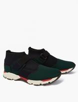 Marni Navy Neoprene Mid-top Sneakers