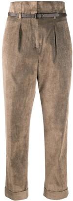 Peserico Paperbag Waist Corduroy Trousers