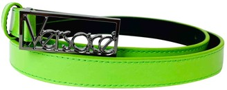 Versace Green Leather Belts