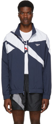 Reebok Classics Navy and White Vector Track Jacket
