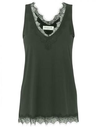 Rosemunde Billie Lace Top Black Green - 38