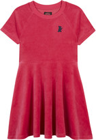 Juicy Couture Dog cotton-blend velour skater dress 4-14 years