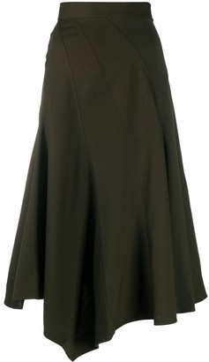 J.W.Anderson Spiral-Seam Midi Skirt