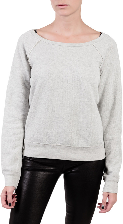 Elizabeth and James TEXTILE Patch Sweatshirt Bleached Heather Grey