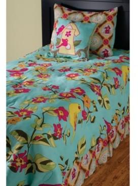 Riztex Usa Birds in Paradise Twin 2 Piece Comforter Set Bedding