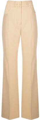 Nanushka Clara belted flared trousers