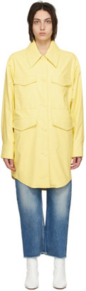 MM6 MAISON MARGIELA Yellow Faux-Leather Jacket