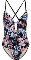 Tart Collections Cutout Printed Swimsuit