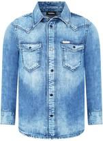 Diesel Boys Blue Denim Citrok Shirt