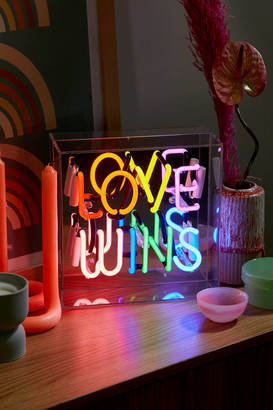 Urban Outfitters Love Wins Neon Box Light