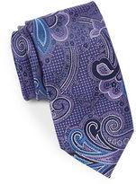 Black Brown 1826 Paisley Shimmer Silk Tie