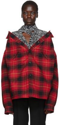 Balenciaga Red Canadian Swing Jacket