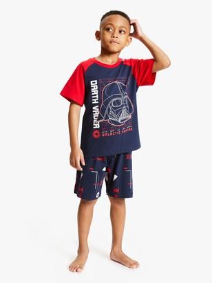 Star Wars Boys' Glow in the Dark Short Pyjamas, Navy