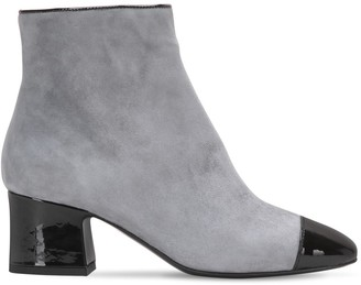 Aand 60mm Suede & Patent Leather Ankle Boots