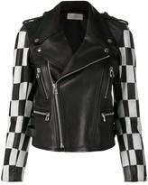 Faith Connexion checkered bike zipped jacket