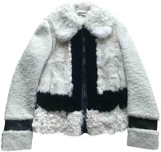 Celine White Mongolian Lamb Jackets