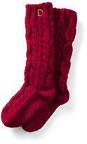 Classic Women's Hand Knit Slipper Socks-Rich Red