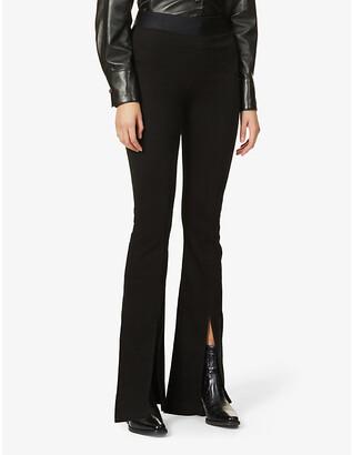 J Brand Estellah high-rise flared-leg woven trousers