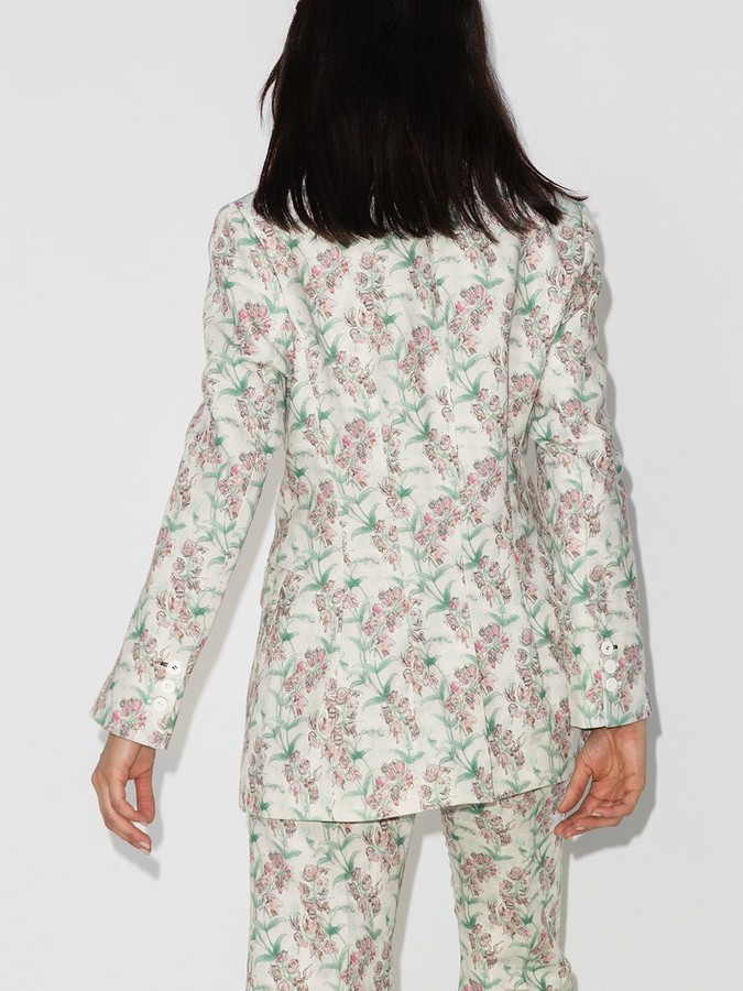Thumbnail for your product : Charles Jeffrey Loverboy Floral Print Single Breasted Blazer