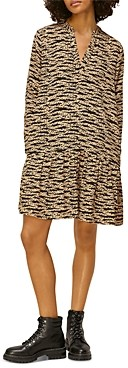 Whistles Tiger & Leopard Print Dress