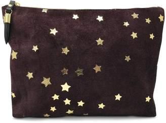 Kempton & Co. Oxblood Suede-Star Clutch