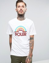 Poler T-Shirt With Large Rainbow Logo