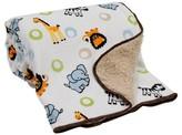 Bedtime Originals Lambs & Ivy Velour Sherpa Blanket - Jungle Buddies
