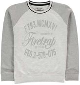 Firetrap Kids Crew Sweater Jumper Pullover Junior Boys Jersey Long Sleeve Print