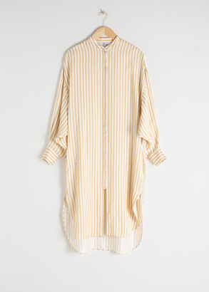 And other stories Striped Button Up Kaftan