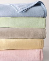 Sferra Plushed Combed Cotton Twin Blanket