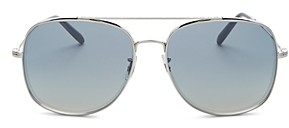 Oliver Peoples Men's Brow Bar Aviator Sunglasses, 54mm