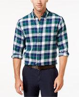 John Ashford Men's Big and Tall Long-Sleeve Plaid Shirt, Only at Macy's