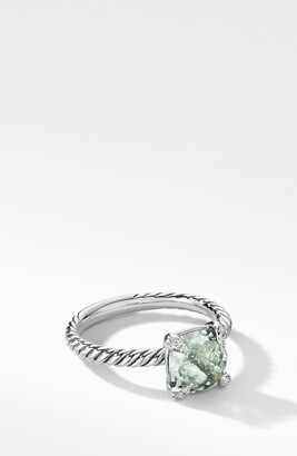 David Yurman Chatelaine Ring with Semiprecious Stone and Diamonds