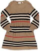 Thumbnail for your product : Burberry Children Icon Stripe Long Sleeve Knit Dress