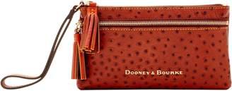 Dooney & Bourke Ostrich Double Zip Wristlet