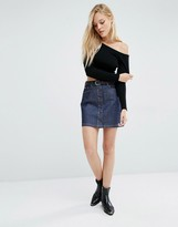 Lee Button Through Skirt
