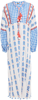 Dodo Bar Or Miguel Broderie Anglaise-trimmed Embroidered Cotton-gauze Kaftan