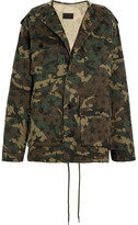 Saint Laurent Hooded Camouflage-print Cotton-canvas Parka - Army green