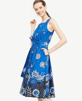 Ann Taylor Tie-Front Poplin Dress