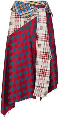 Marques Almeida reMAde patchwork silk mini skirt