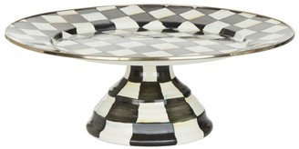 Mackenzie Childs Mackenzie-Childs Courtly Check Enamel Pedestal Platter