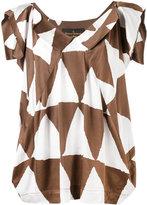 Vivienne Westwood triangle print blouse
