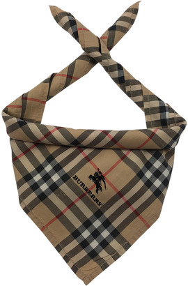 Burberry Brown Cotton Scarves & pocket squares