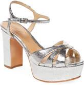 Schutz Women's Metallic-Leather Platform Sandal