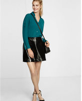 Express slim fit large dot print portofino shirt