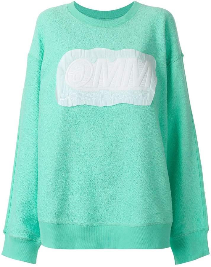MM6 MAISON MARGIELA reverse logo patch sweatshirt