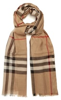 Burberry House-check wool and silk-blend scarf