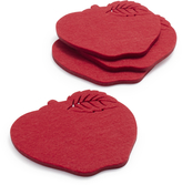 Sur La Table Apple Felt Coasters
