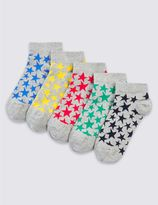 Marks and Spencer 5 Pairs of FreshfeetTM Trainer Liner Socks (3-16 Years)